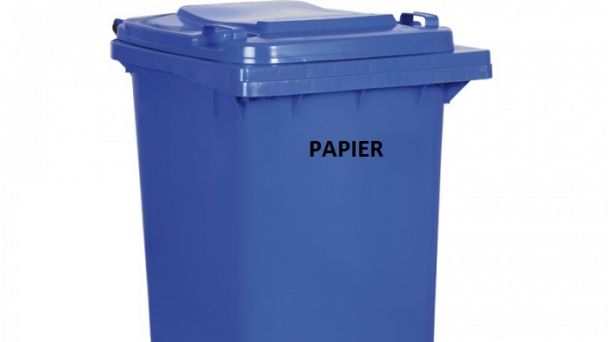 Vývoz papier - modré vrecia